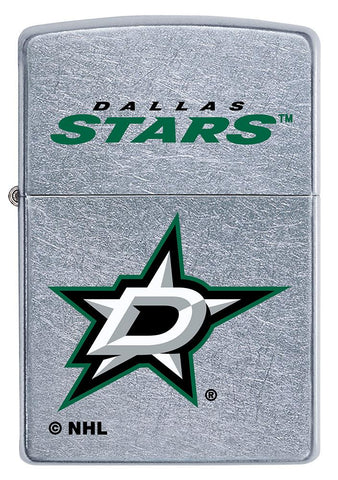 Front of ©NHL Dallas Stars Street Chrome™ Windproof Lighter