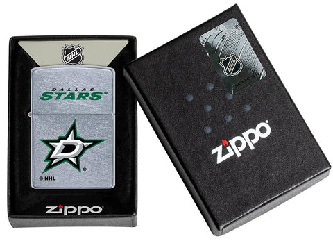 ©NHL Dallas Stars Street Chrome™ Windproof Lighter in its packaging