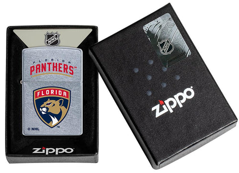 ©NHL Florida Panthers Street Chrome™ Windproof Lighter in its packaging