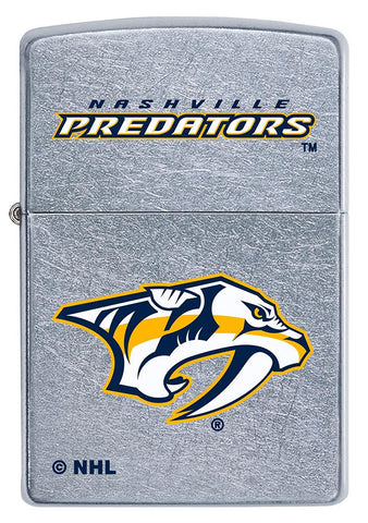Front of ©NHL Nashville Predators Street Chrome™ Windproof Lighter