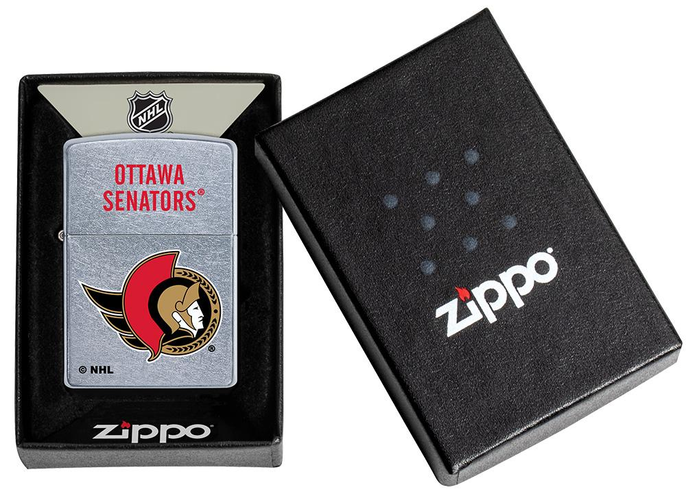 NHL® Ottawa Senators® Street Chrome™ Windproof Lighter in its packaging