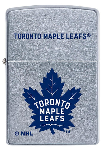 Front of NHL Toronto Maple Leafs Street Chrome™ Windproof Lighter
