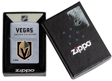 ©NHL Vegas Golden Knights Street Chrome™ Windproof Lighter in its packaging