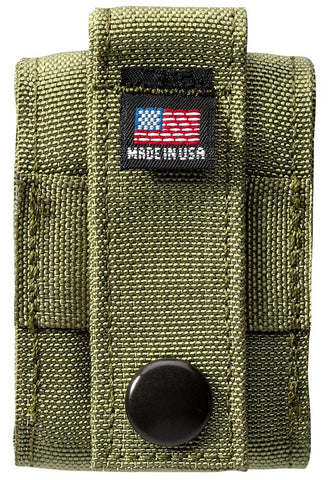 Back of OD Green Tactical Pouch with