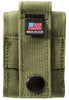 "Back of OD Green Tactical Pouch with ""Made in USA"" tag"