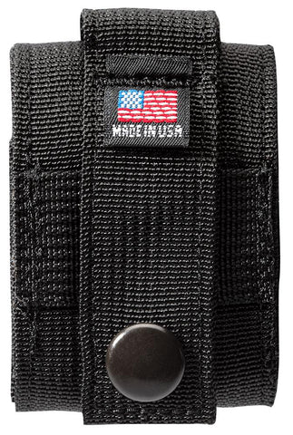 Back of Black Tactical Pouch with