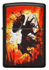 Front of Warrior Design Black Matte Windproof Lighter