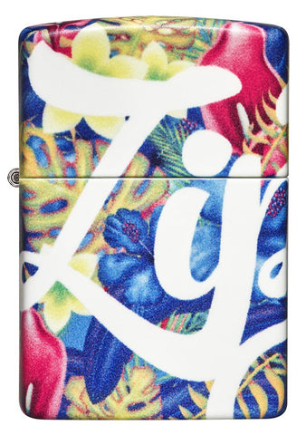 Front of Zippo Floral Design 540 Color Windproof Lighter