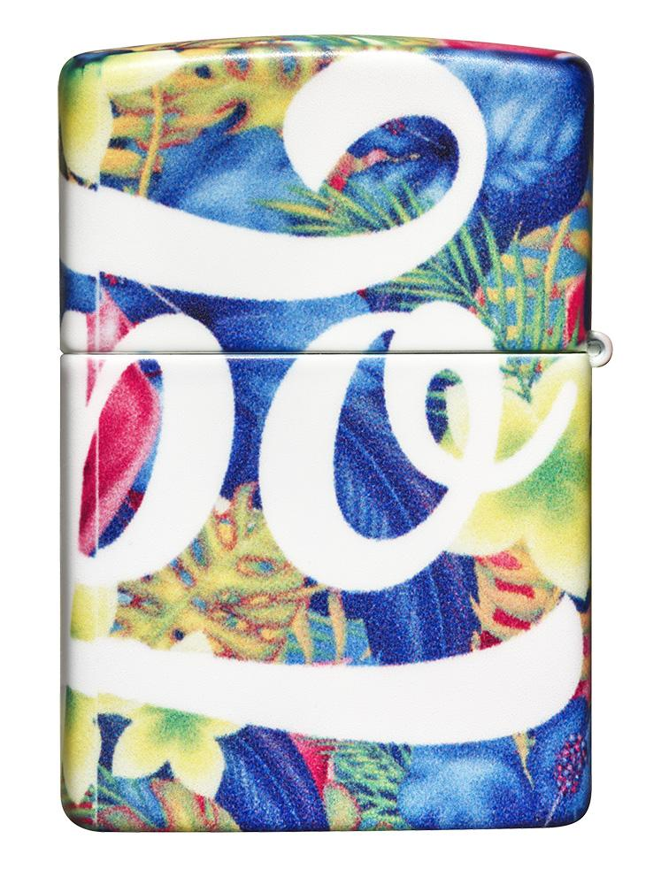 Back of Zippo Floral Design 540 Color Windproof Lighter