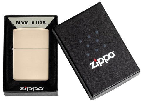 Classic Flat Sand Windproof Lighter in its packaging