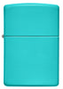 Front of Classic Flat Turquoise Windproof Lighter