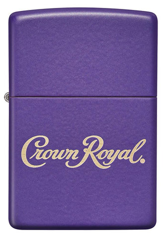 Front of Crown Royal® Purple Matte Windproof Lighter