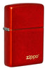 Front shot of Classic Metallic Red Matte Zippo Logo Windproof Lighter
