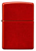 Front of Metallic Red Matte Windproof Lighter