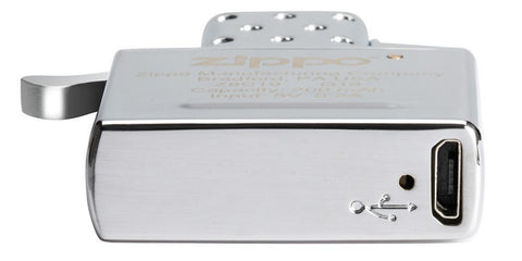Bottom view of Zippo Arc Insert, showing the charging input
