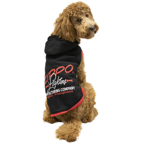Black Pet Hoodie on a poodle
