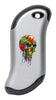 Front of Paint Splatter Skull: Silver HeatBank® 9s Rechargeable Hand Warmer