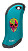 Front of Colorful Skull: Blue HeatBank® 9s Rechargeable Hand Warmer