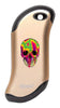Front of Colorful Skull: champagne HeatBank® 9s Rechargeable Hand Warmer