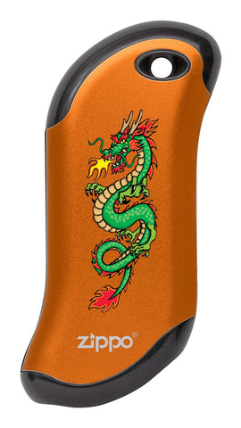 Front of Chinese Dragon: Orange HeatBank® 9s Rechargeable Hand Warmer