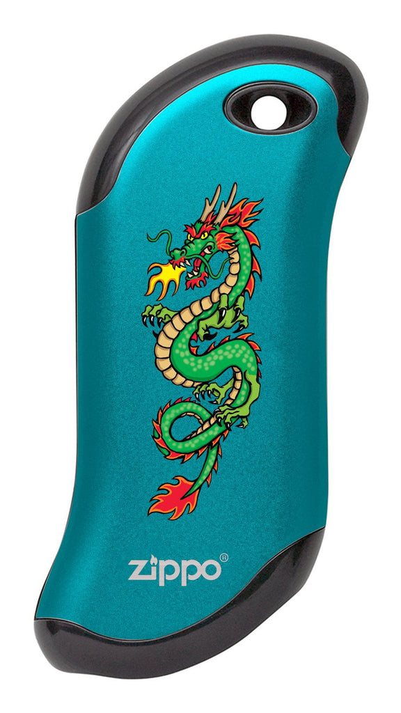Front of Chinese Dragon: Blue HeatBank® 9s Rechargeable Hand Warmer