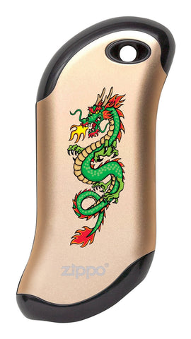 Front of Chinese Dragon: Champagne HeatBank® 9s Rechargeable Hand Warmer