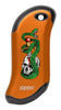 Front of Skull, Snake, & Dagger: Orange HeatBank® 9s Rechargeable Hand Warmer