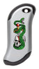 Front of Skull, Snake, & Dagger: Silver HeatBank® 9s Rechargeable Hand Warmer