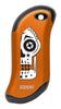Front of Sugar Skull: Orange HeatBank® 9s Rechargeable Hand Warmer
