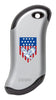 Front of Eagle and American Flag: Silver HeatBank® 9s Rechargeable Hand Warmer