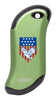Eagle and American Flag: Green HeatBank® 9s Rechargeable Hand Warmer