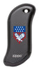 Eagle and American Flag: Black HeatBank® 9s Rechargeable Hand Warmer