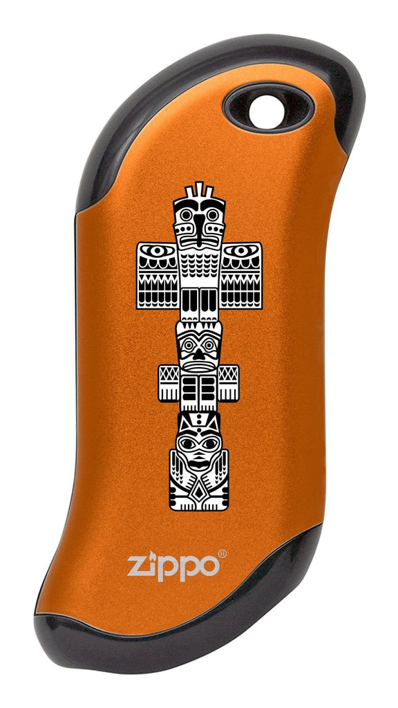 Front of Totem Pole: Orange HeatBank® 9s Rechargeable Hand Warmer