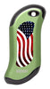 Front of American Flag: Green HeatBank® 9s Rechargeable Hand Warmer