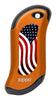 Front of American Flag: Orange HeatBank® 9s Rechargeable Hand Warmer