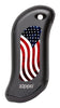 Front of American Flag: Black HeatBank® 9s Rechargeable Hand Warmer
