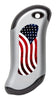 Front of American Flag: Silver HeatBank® 9s Rechargeable Hand Warmer