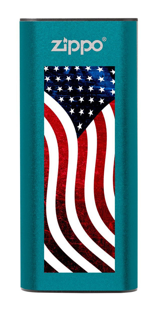 Blue American Flag: HeatBank® 3-Hour Rechargeable Hand Warmer