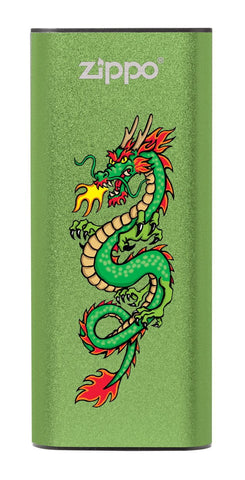 Front of Chinese Dragon: Green HeatBank® 3-Hour Rechargeable Hand Warmer