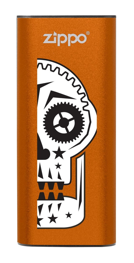 Front of Sugar Skull: Orange HeatBank® 3-Hour Rechargeable Hand Warmer