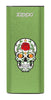 Front of Rose Sugar Skull: Green HeatBank® 3-Hour Rechargeable Hand Warmer