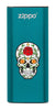 Front of Rose Sugar Skull: Blue HeatBank® 3-Hour Rechargeable Hand Warmer