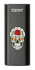 Front of Rose Sugar Skull: Black HeatBank® 3-Hour Rechargeable Hand Warmer