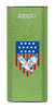 Front of Eagle and American Flag: Green HeatBank® 3-Hour Rechargeable Hand Warmer