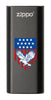 Front of Eagle and American Flag: Black HeatBank® 3-Hour Rechargeable Hand Warmer