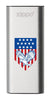 Front of Eagle and American Flag: Silver HeatBank® 3-Hour Rechargeable Hand Warmer