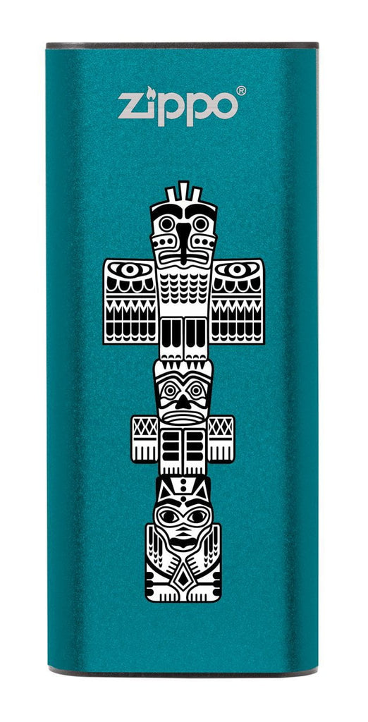 Front of Totem Pole: Blue HeatBank® 3-Hour Rechargeable Hand Warmer