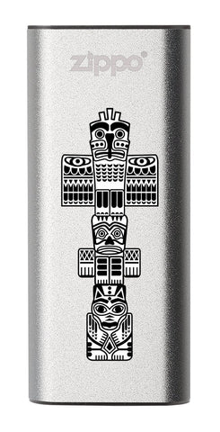 Front of Totem Pole: Silver HeatBank® 3-Hour Rechargeable Hand Warmer