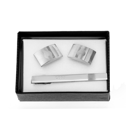 Zippo Tie Bar & Cuff Links Set in its packaging