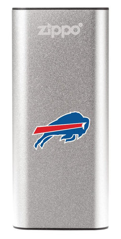 NFL Buffalo Bills: HeatBank 3-Hour Rechargeable Hand Warmer front silver